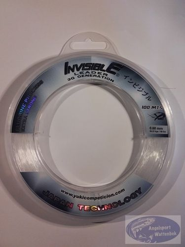 Yuki Invisible 3G Shock Leader 100 Meter 0,60mm - 36,22kg Tragkraft
